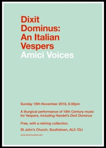 Dixit Dominus An Italian Vespers
